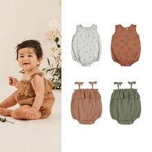 Enkelibb bebê meninos verão sling macacão menina sem mangas macacão cru designer marca rendas macacão de alta qualidade roupas bebe
