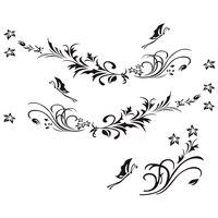 Naklejki samochodowe naturalny kwiat Rattan naklejka dekoracyjna winylu aplikacja kształt samochodu w Naklejki samochodowe od Samochody i motocykle na
