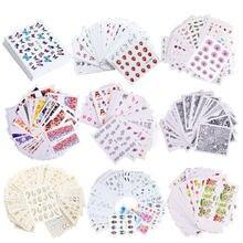 Стикеры комплект дизайнерские наклейки для ногтей золотого и