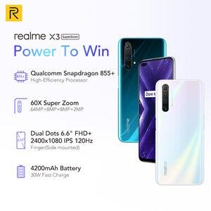 Image 2 - 100% Original Global Version Realme X3 MobilePhone 6.6 inch 120Hz Snapdragon 855 Plus Octa Core 60X Super Zoom NFC Russia Versio