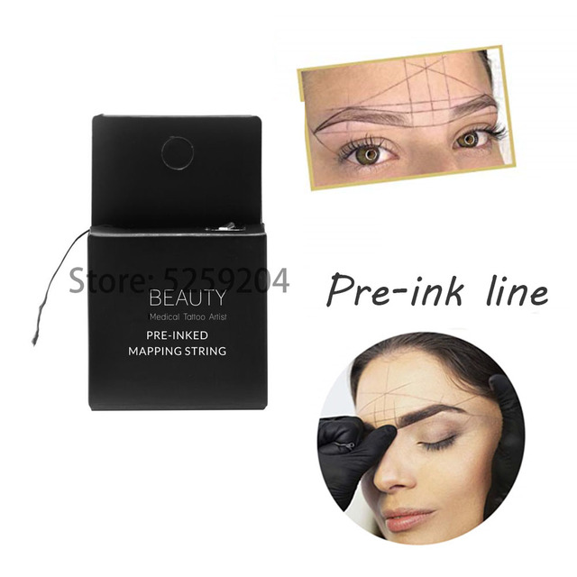 Microblading Pre-Inked MAPPING STRING Pre-Inked Eyebrow Marker thread Tattoo Brows On Point 10m MPRO for eyebrow tattoo makeup