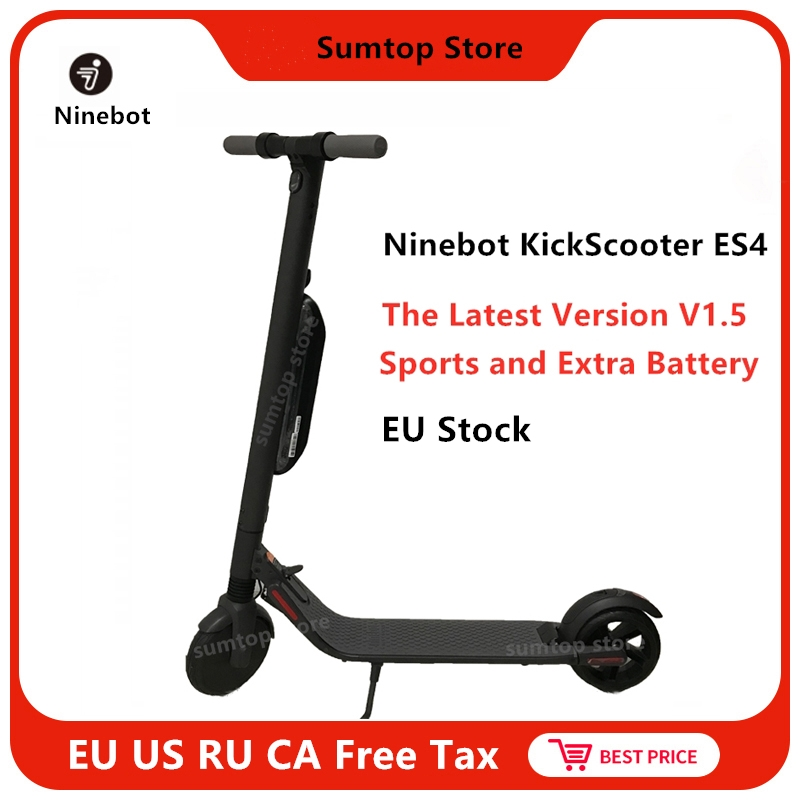 2019 Ninebot KickScooter ES4/ES2 Latest V1.5 EU Stock Smart Electric Scooter 30km/h Foldable Kick Scooter Hoverboard Skate Board