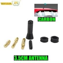 3.5cm Car Short Carbon Radio Aerial Arial Antenna For Ford Focus Escape Kuga Fiesta Ecosport KA Mini R55 R56 etc
