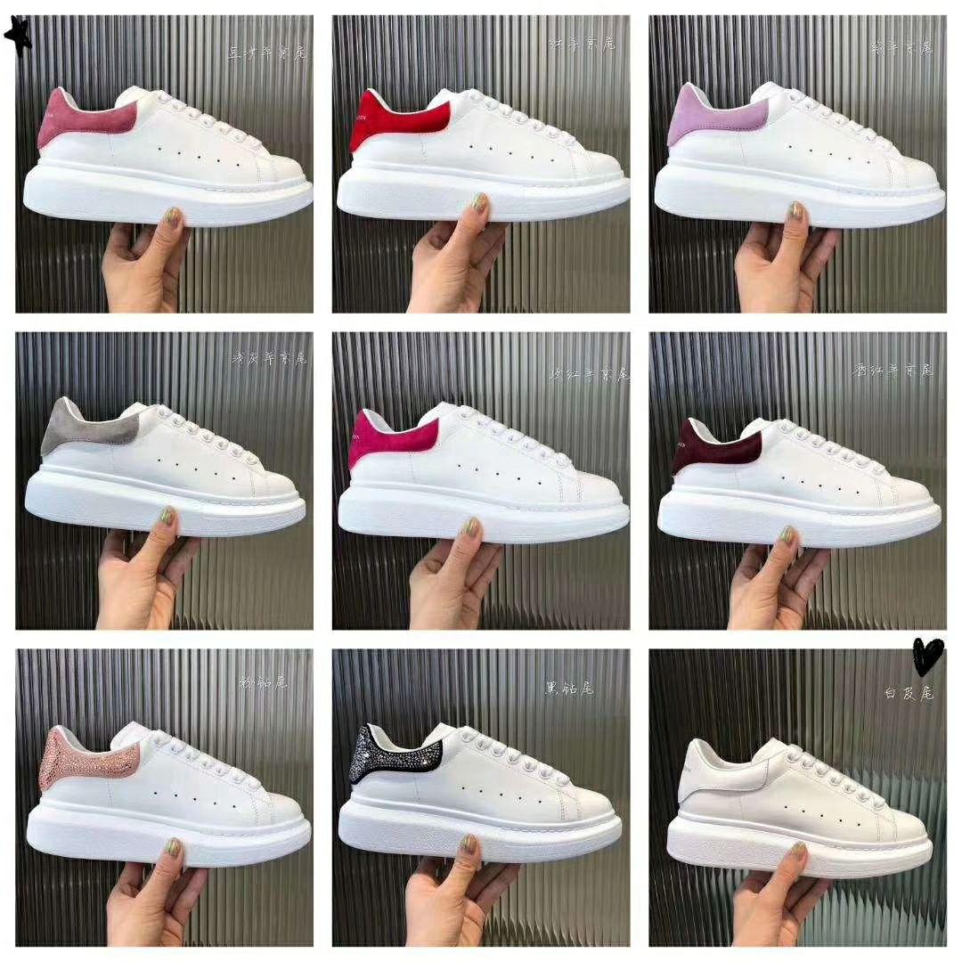 BELLECOM 2019 début de l'automne nouveau McQueen petites chaussures blanches semelle épaisse augmenté 100 dames chaussures version coréenne chaussures
