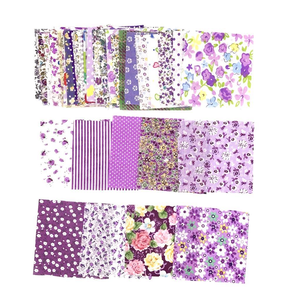 50Pcs 10x10cm Floral Patchwork Cotton Fabric Plain Cloth For DIY Sewing Quilting A Random Set For Sale Cloth For DIY Sewing Quil