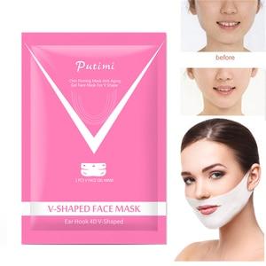 Image 4 - 1/2/3PCS 4D V Shape Slim Mask Face Lift Tools Thin Face Mask Slimming Skin Care Face Treatment Double Chin Skin Beauty Mask