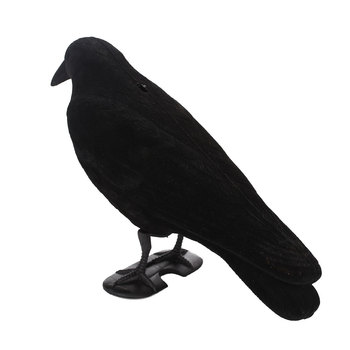 Fake Bird Hunting Creative Realistic PE Black Yard Decor Scarecrow Garden Target Pest Outdoors Trap Crow Decoy 3