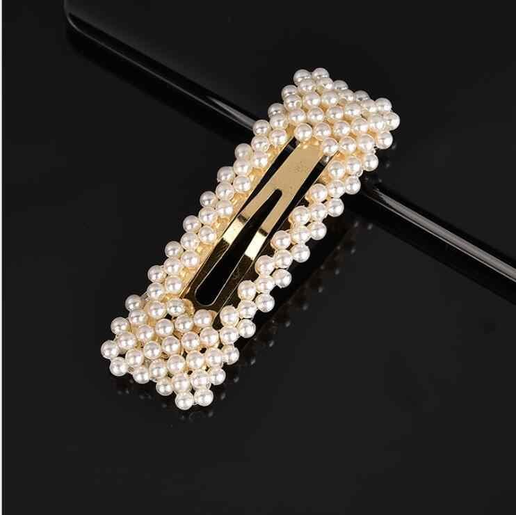 Ins Elegant Pearl Hair Clip For Women Hairpins Hair Barrett Hair Ornament Girls Hair Clips Silver Gold Hair Styling Accessories