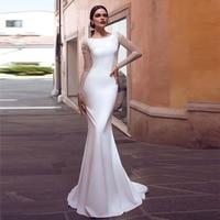 Verngo Mermaid Wedding Dress Boho Lace Appliques Bride Dresses 2020 Simple Wedding Gowns Stain Vestidos De Novia