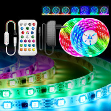 5M 10M WS2811 Led Lights Dream RGBWW RGB Led Strip Light Addressable 15M 20M 5050 Pixel Led Tape with adapter + controller