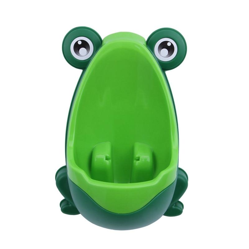 Baby Boys Kids Toddler Potty Training Pee Trainer Mini Toilet (Frog Green)