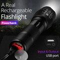 SHENYU мощный перезаряжаемый светодиодный мини-фонарик, USB, зарядное устройство, аккумулятор Cree T6, тактический фонарь 18650, походный, кемпинг