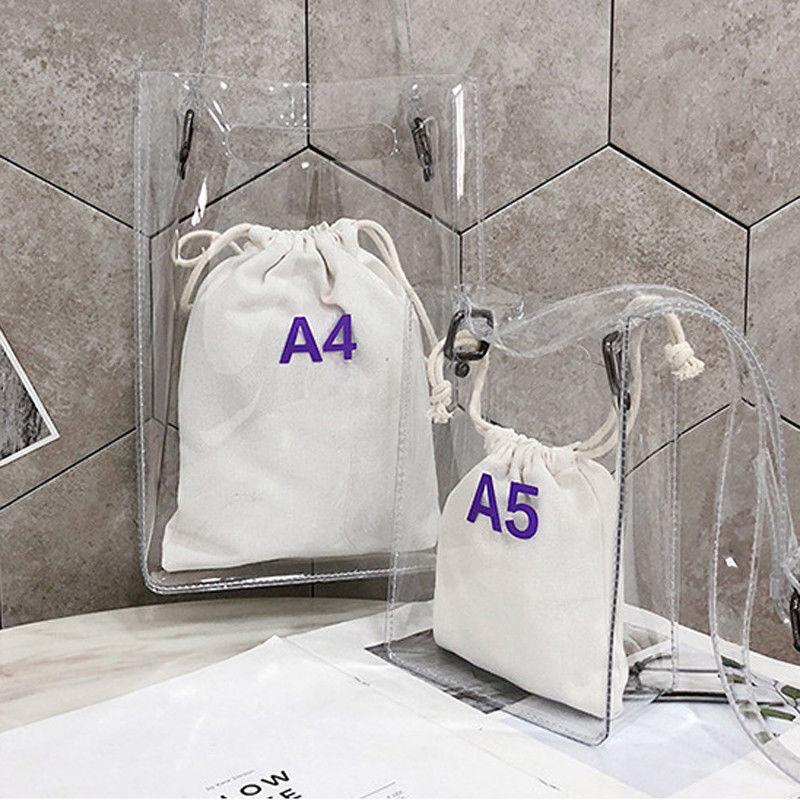 Местная Стоковая женская сумка 2 в 1 прозрачная упаковка ПВХ Повседневная Для Девочек прозрачная сумка тоут Наплечная Сумка с принтом сумка мессенджер Сумки с ручками      АлиЭкспресс