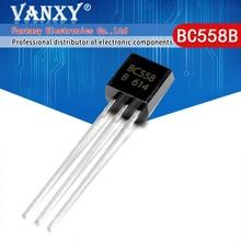 100 قطعة BC558B إلى 92 BC558 TO92 558B جديد الصمام الثلاثي الترانزستور