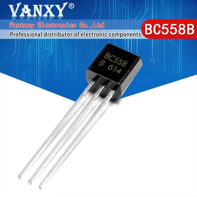 100 adet BC558B TO 92 BC558 TO92 558B yeni triyot transistörü