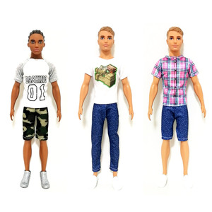Ken the Boyfriend Handmade Outfit Set Clothes for Barbie Doll Accessories Play House Dressing Up Costume Kids Toys Gift(China)