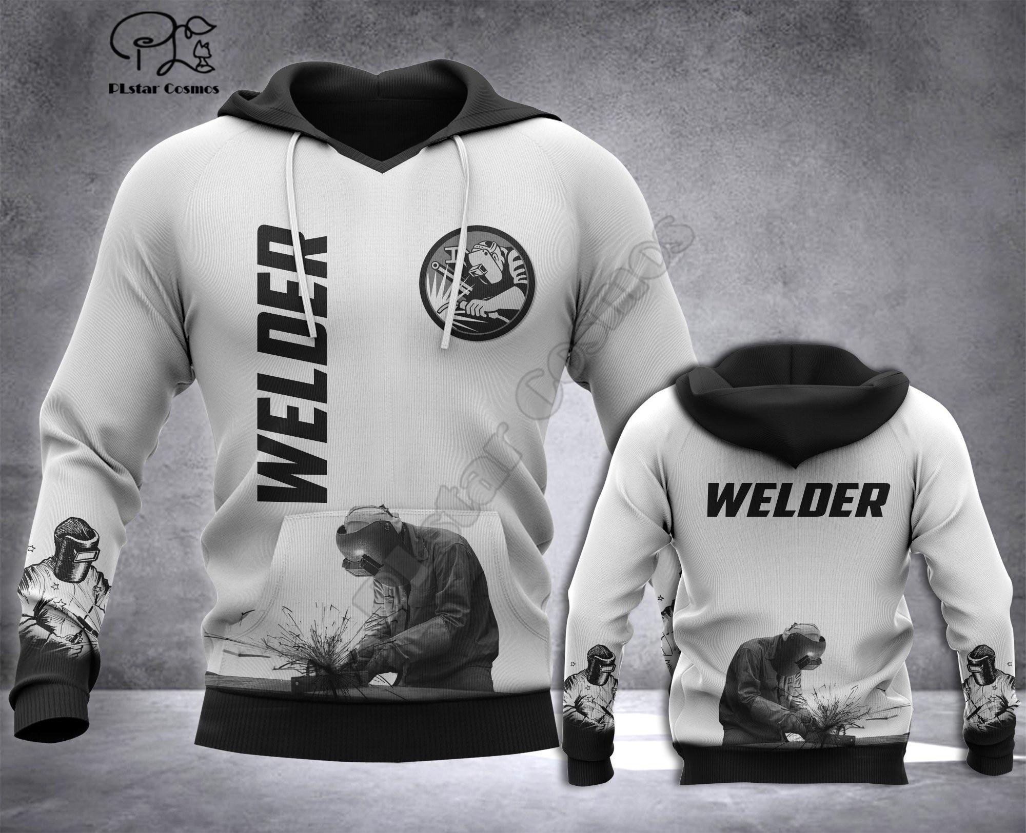 Welder printed Hoodies sweatshirts Men Women Fashion Hooded Long Sleeve streetwear Pullover cosplay costumes 4