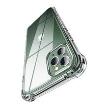 קריסטל ברור רך TPU מקרה עבור iPhone 11 פרו מקסימום מקרה עמיד הלם כרית אוויר 5.8 6.1 6.5 אינץ פגושים iPhone 11 מגן כיסוי