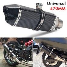 Slip On 51mm Universal Exhaust Pipe Tips Escape Muffler Tube For Motorcycle ATV