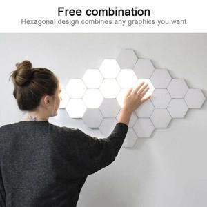 Image 4 - HoneyFly applique murale avec capteur IR tactile, nid dabeille quantique 110, 240 mur LED V, décoration bricolage même