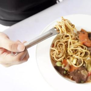 Image 4 - Youpin nextool garfo colher de titânio puro ao ar livre utensílios de mesa portáteis 2 em 1 destacável esportes ao ar livre saudável conveniente