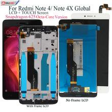 Wyświetlacz dla Xiaomi Redmi Note 4 wyświetlacz LCD wymiana ekranu dotykowego dla Redmi Note 4X Snapdragon 625 Octa Core Display 5 5 #8221 tanie tanio raugee CN (pochodzenie) Pojemnościowy ekran 1920x1080 3 for Redmi Note 4 Redmi note 4X global 4X Redmi Nocie