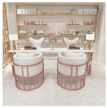 Net red manicure table special price economic single double three person iron manicure table manicure table