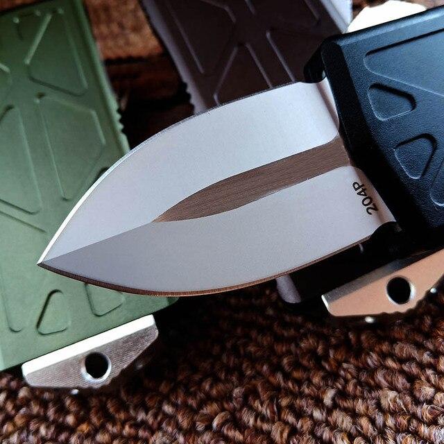 CNC usinage Aviation aluminium poignée Mini poche couteau pliant Camp extérieur survie lettre ouvreur Portable auto-défense outil