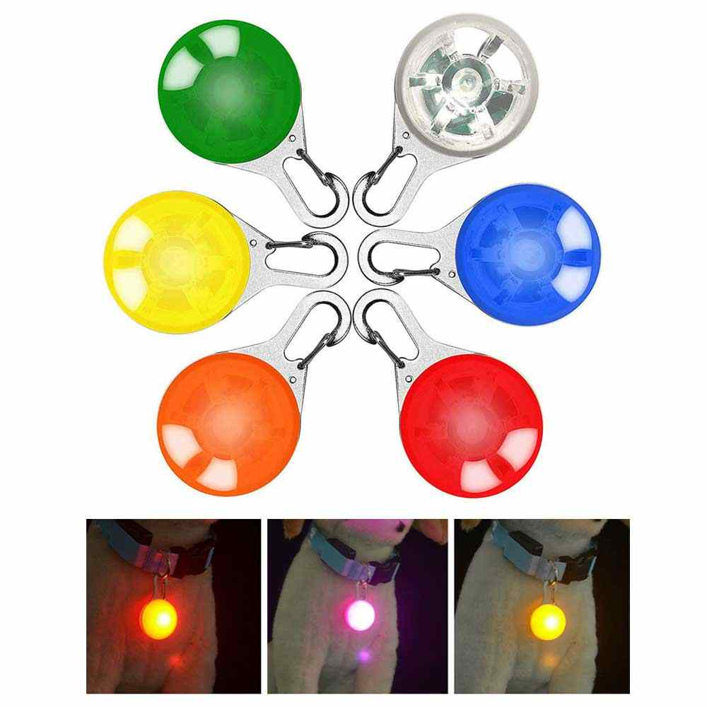 LED Flashlight Leads Pet Cat Dog Collar Night Safety Lights Glowing Pendant Necklace Pet Luminous Bright Glowing Collar in Dark