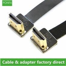 FPV HDMI ذكر إلى أنثى 90 درجة محول FPC الشريط شقة HDMI كابل الملعب 20pin للتصوير الجوي المتعدد