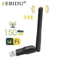 Adaptador sem fio do lan de usb 2.0 150m 802.11 b/g/n da placa de rede de mt7601 wifi com antena rotativa para o dongle do computador portátil mini wi-fi