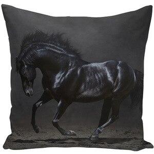 Image 5 - Throw Pillow Bts Case 45x45 Animal Print War White Horse Cushion Cover Sets for Chair Sofa Decorative Home Farmhouse Decor
