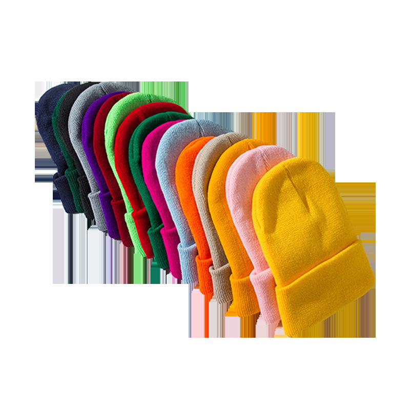 2019 Winter Hats for Woman New Beanies Knitted Fluorescent Hat Girls Autumn Female Beanie Caps Warmer Bonnet Ladies Casual Cap 1