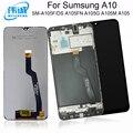 ЖК-дисплей и тачскрин с дигитайзером в сборе для SAMSUNG Galaxy A10  с рамкой  для SAMSUNG Galaxy A10  A105FN  A105G  A105M  A105  ЖК-дисплей
