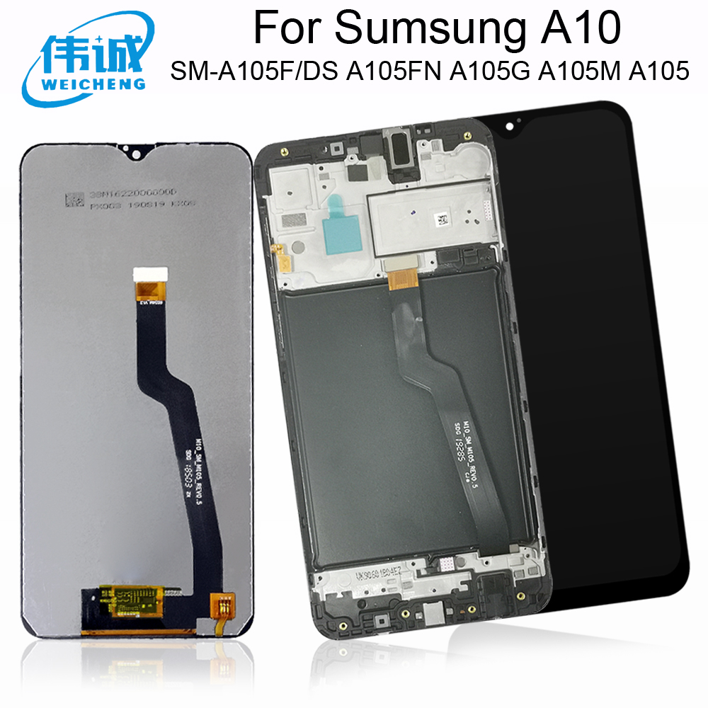 For SAMSUNG Galaxy A10 LCD Display+Touch Sensor Digitizer Assembly With Frame For SM-A105F/DS A105FN A105G A105M A105 LCD image