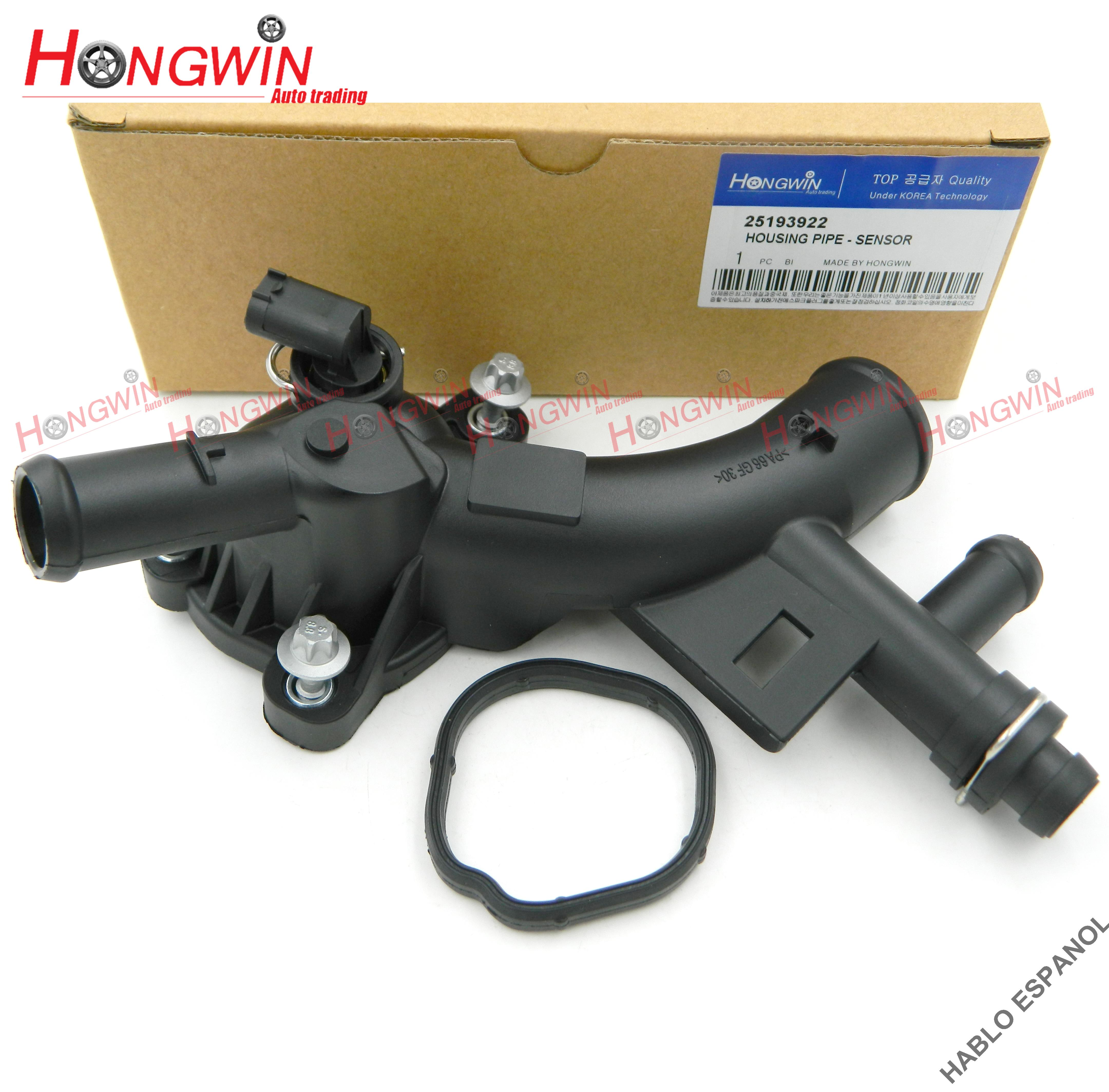 Water Pump Outlet Thermostat Housing w//Sensor /& Gasket Kit Replacement for Chevrolet Cruze /& Limited Sonic Trax Buick Encore 25193922