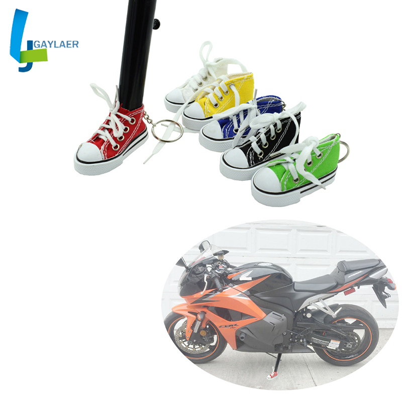 Motorcycle Side Kickstand Stand Extension Plate Mini Shoes Keychain Motorcycle Foot Suppor Motorcycle Key Chain