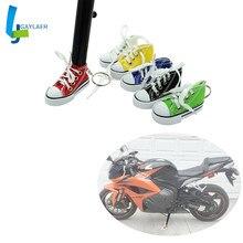 Kaski motocyklowe stojak płyta przedłużająca Mini buty brelok motocykl foot suppor z kluczem i motocyklem