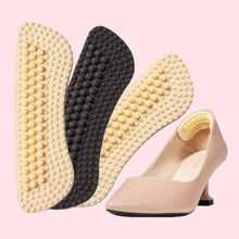1 Pair New Massage Silicone Inserts Fashion Soft Sticky Silica Gel Fabric Shoe Pads Liner Grips Back Heel Insoles Black