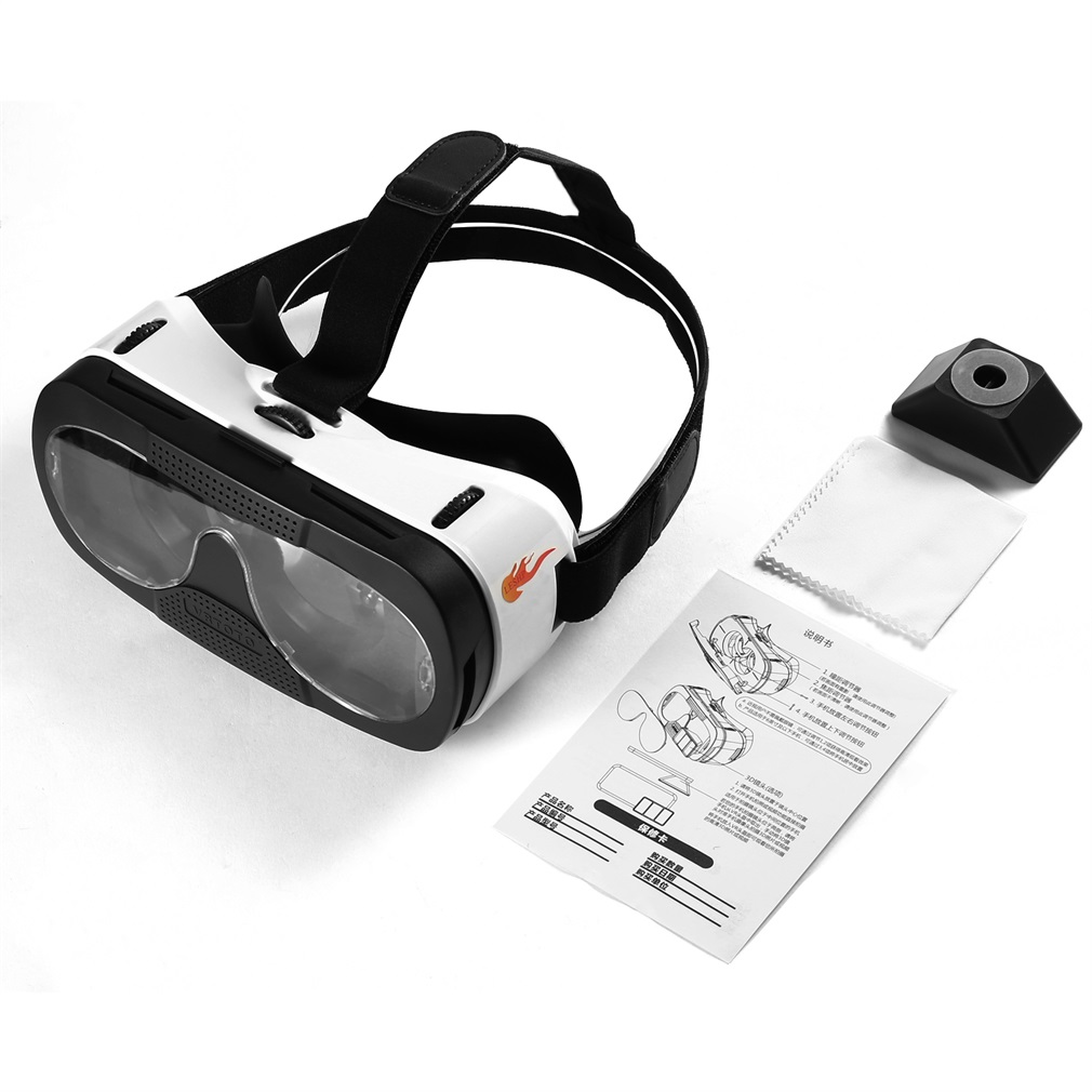 LESHP Blu-ray Glass Lens 3D VR Glasses Virtual Reality Headset Movie Game Anti-ultraviolet Anti-dizziness Better Thermal