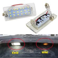 Лампа освещения для номерного знака, 2 шт, фонарь 18 SMD 3528 для BMW E53 X5 1999-2003 E83 X3 03-10