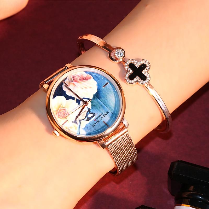 2019 New Ultra Fine Strap Luxury Women Wristwatch Women Watch Classic Chinese Style Female Ladies Watch Zegarek Damski Watches