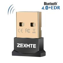 ZEXMTE USB Bluetooth CSR 4.0 Adapter Laptop PC Dongle for Win10/8/7/ Vista XP Mini Receiver Transfer Wireless