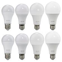 E27 Светодиодный светильник 220-240 в 12 Вт 15 Вт 18 Вт 20 Вт энергосберегающий свет для внутреннего освещения белый/теплый пластик+ алюминиевая лампочка