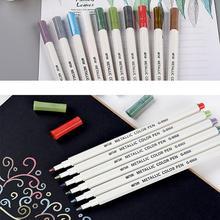 10 PCS Metallic color paint pen marker tyre painting graffiti DIY photo album pen, 10-pack