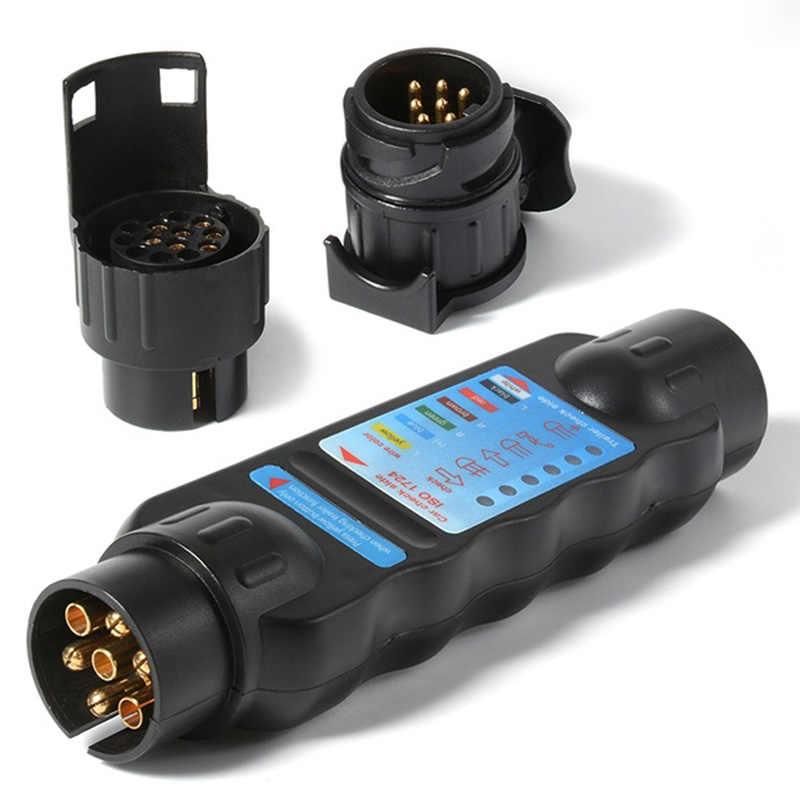 ส่วนใหญ่ทนทานSocket Testerวงจรสายไฟทดสอบเครื่องมือ 12V 7-Pinรถบรรทุกรถพ่วงPlug
