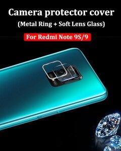 Szkło hartowane dla Xiaomi Redmi Note 9 S 9 Pro Max 10X metalowa osłona obiektywu osłona pierścienia ochronnego dla Redmi Note 9 S 9 S
