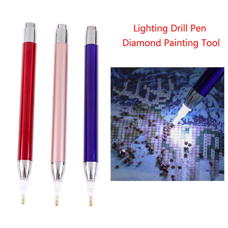 Point Drill Pen 5D Diamond Painting Lighting Diamond Painting Tool Accessories