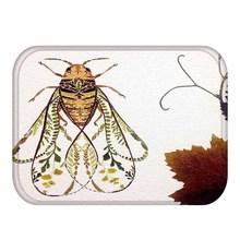 40*60 แมลงสัตว์สี่เหลี่ยมผืนผ้าพรมทำความสะอาดได้Homeห้องนอนตกแต่งพื้นห้องน้ำลื่นเสื่อ ..