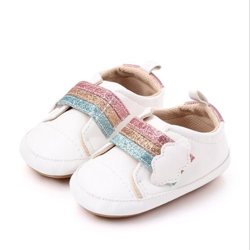 New Baby Shoes Infants PU Casual First Walkers Soft Anti-Slip Sole Newborn Sport Shoes Boys Girls Baby Shoes Sneakers